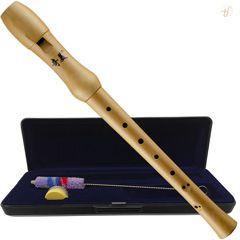 Flauta Doce Soprano Qimei Wood Madeira Barroca