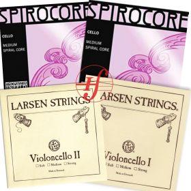 Encordoamento Violoncelo Montado Larsen Original com Spirocore Silver