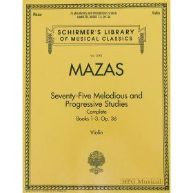 Método Violino Mazas Estudos Melódicos Progressivos Op.36 Livros 1 à 3