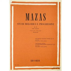 Método Violino Mazas Estudi Melodici e Progressivi Op.36
