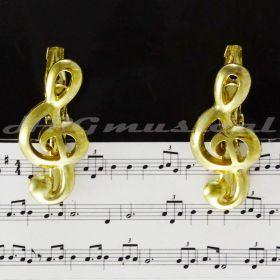 Prendedor Partitura Clip Clave de Sol Paganini Dourado